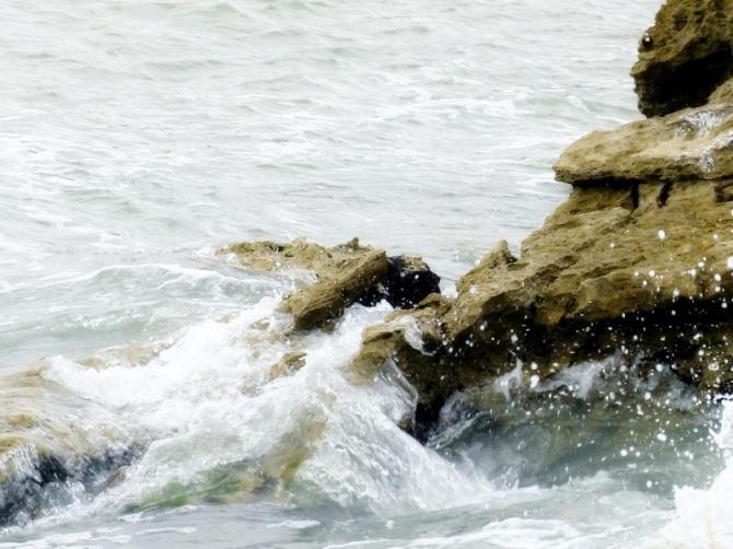 Crashing on the rocks