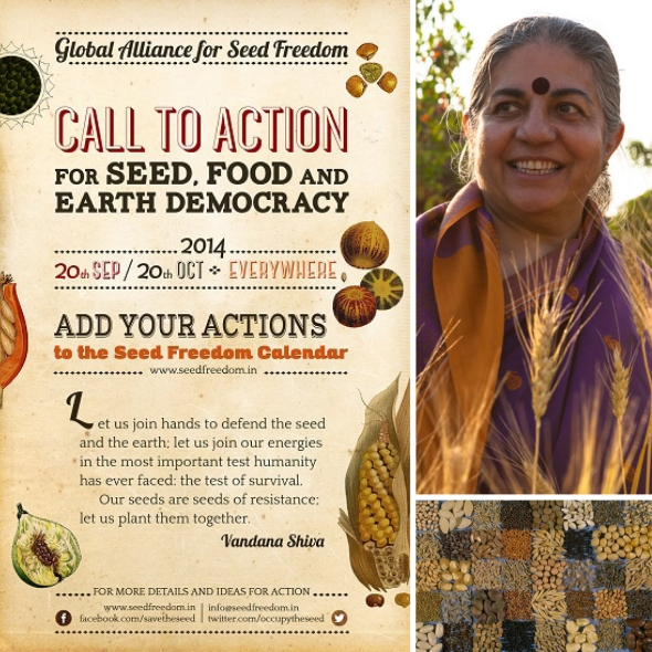 Vandana Seed Food Earth Democracy Month